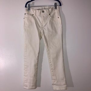 Boy's White Jeans GAP Slim Size 6